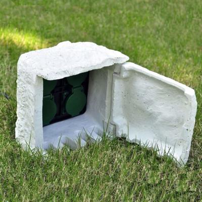 Bloc de 4 Prises extérieures de jardin avec protection