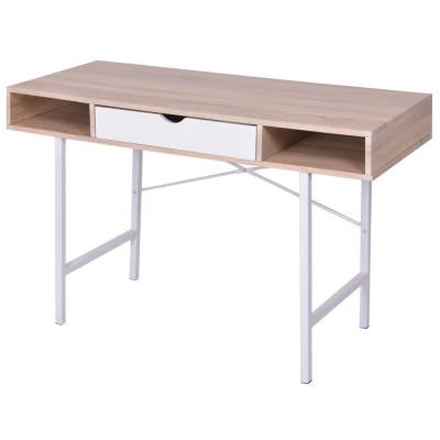 Bureau avec 1 tiroir Chêne et blanc