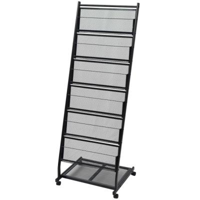 Porte-revues 47,5 x 43 x 133 cm Noir A4