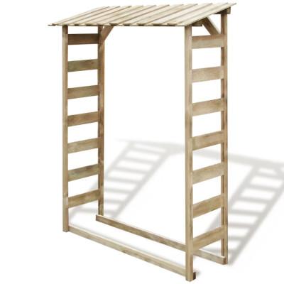 Abri de stockage du bois de chauffage 150x44x176 cm Pin imprégné