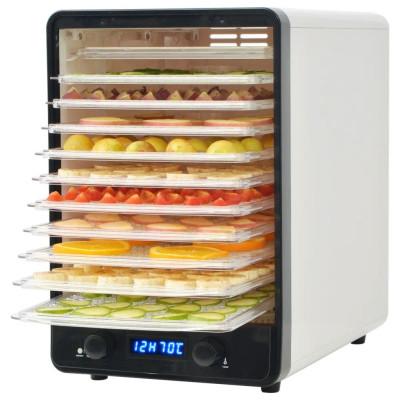 Déshydrateur alimentaire avec 10 plateaux 550 W Blanc