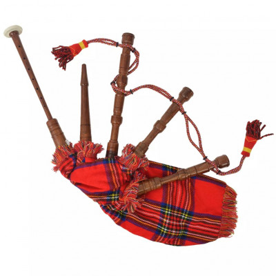 Cornemuse écossaise Great Highland d'enfants tartan rouge Royal Stewart