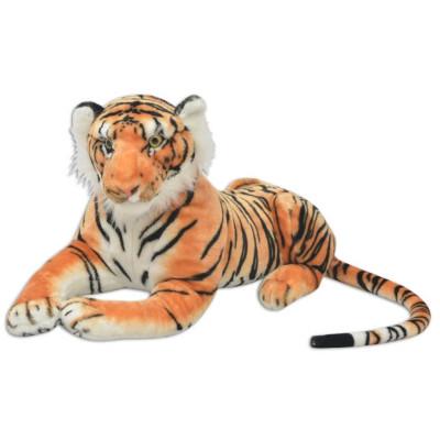 Tigre en peluche Marron XXL