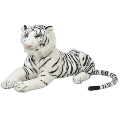 Tigre en peluche Blanc XXL