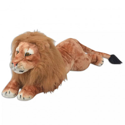 Lion en peluche Marron XXL