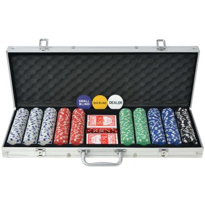 Jeu de poker avec 500 jetons Aluminium