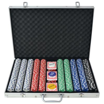 Jeu de poker avec 1000 jetons Aluminium