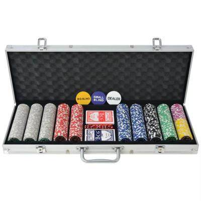 Coffret de poker avec 500 jetons Laser Aluminium