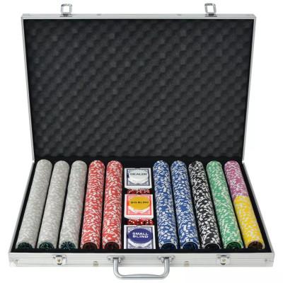 Jeu de poker avec 1000 jetons Laser Aluminium