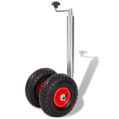 Roue jockey de remorque avec 2 pneus pneumatiques 200 kg
