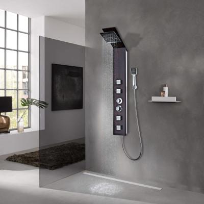 Système de panneau de douche Verre Marron