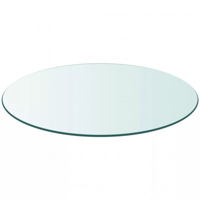 Dessus de table ronde en verre trempé 400 mm