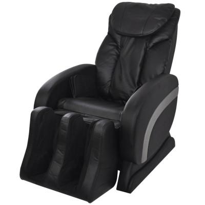 Fauteuil de massage électrique en cuir artificiel Noir