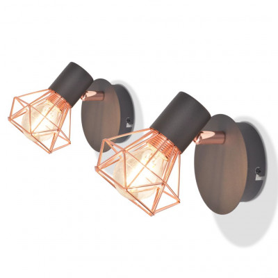 Lampe murale avec 2 ampoules LED à incandescence 2 pcs 8 W