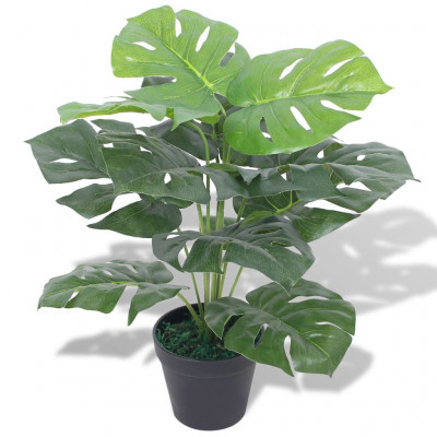 Plante Monstera artificielle avec pot 45 cm Vert