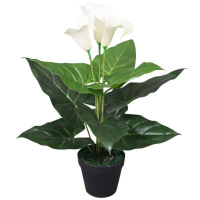 Plante artificielle avec pot Lis Calla 45 cm Blanc