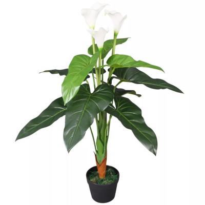 Plante artificielle avec pot Lis Calla 85 cm Blanc