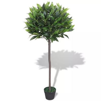 Laurier artificiel avec pot 125 cm Vert