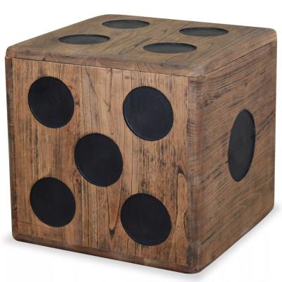 Boîte de rangement Bois Mindi 40 x 40 x 40 cm Design Dés