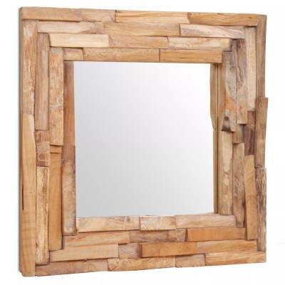 Miroir décoratif Teck 60 x 60 cm Carré