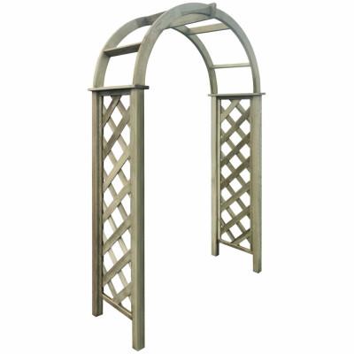 Arche avec treillis Bois de pin vert imprégné