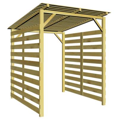 Abri de stockage du bois de chauffage pour jardin Pin imprégné