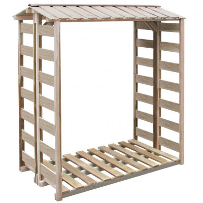 Abri de stockage du bois de chauffage 150x100x176cm Pin imprégné