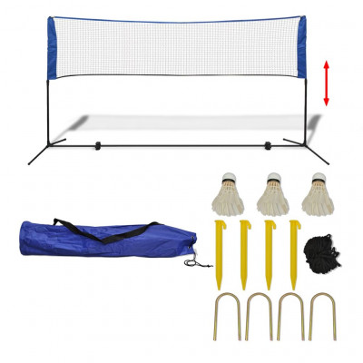 Filet de badminton avec volants 300 x 155 cm