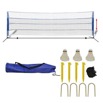 Filet de badminton avec volants 500 x 155 cm