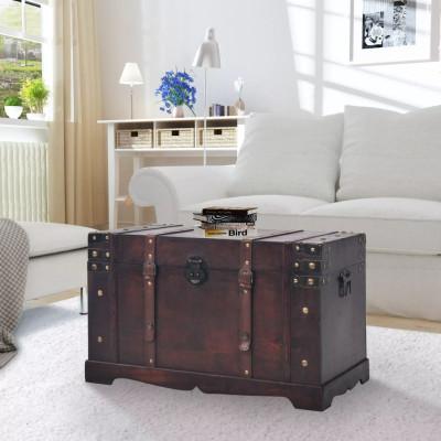 Coffre vintage de rangement Bois 66 x 38 x 40 cm