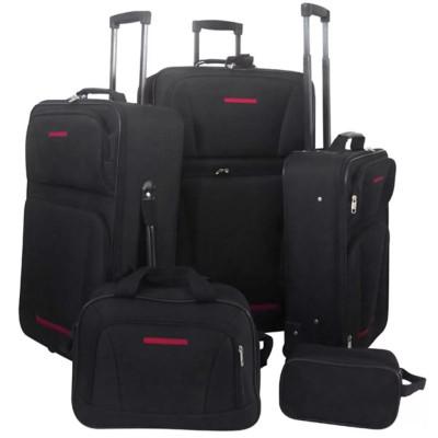 Set de valises noires 5 pièces