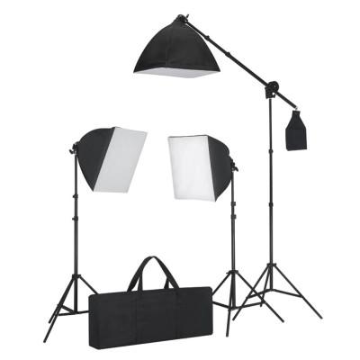 Kit éclairage studio 3 lampes+sofbox+trépieds