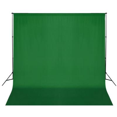 Support de fond de studio photo avec toile de fond verte