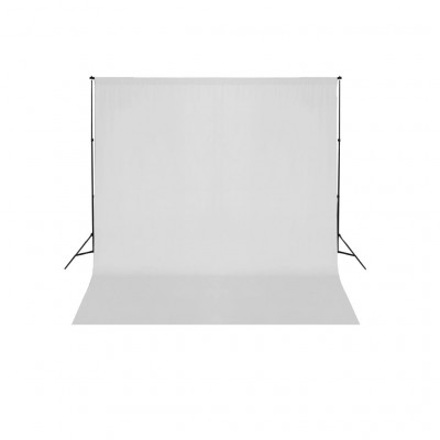 Support de fond de studio photo avec fond blanc 600x300 cm