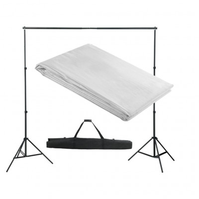 Support de fond de studio photo avec fond blanc 300x300 cm