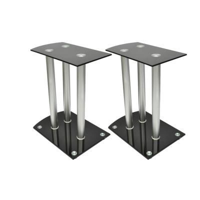 Lot de 2 reposes enceinte en aluminium et verre