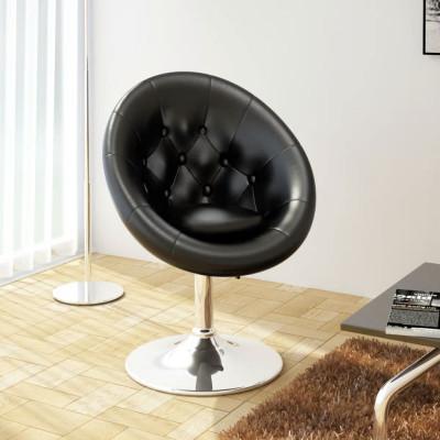 Chaise de club Cuir synthétique Noir