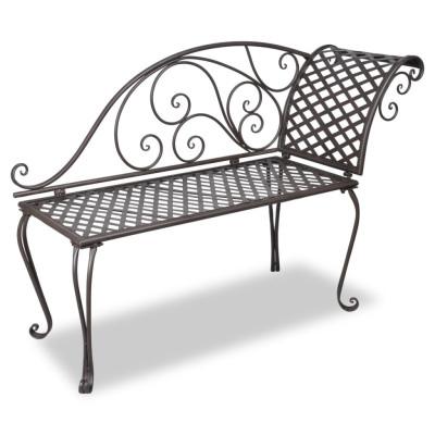 Chaise longue en métal Marron Modèle à volute