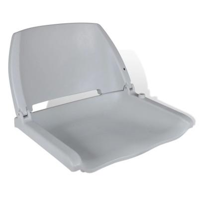 Siège pliant gris pour bateau sans coussin 41 x 51 x 48 cm