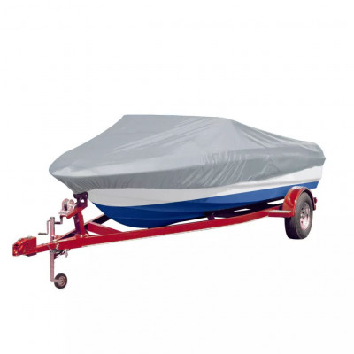 Housse pour bateau gris 427-488 cm (longueur) 173 cm (largeur)