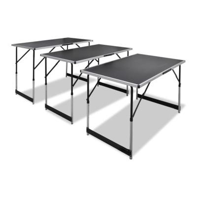 Table à coller 3 pcs pliable Hauteur réglable