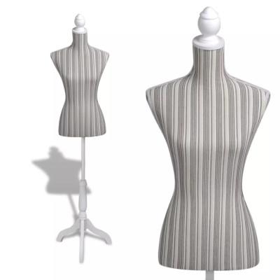 Buste de couture de femme en lin à rayures
