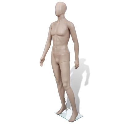 Mannequin de vitrine Homme Tête ronde