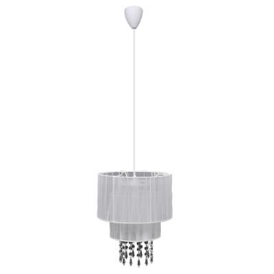 Lustre plafonnier contemporain suspension cristal blanc