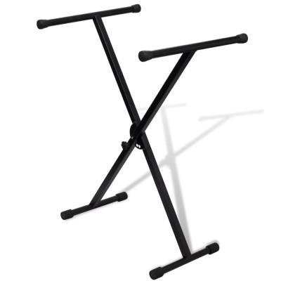Support de clavier réglable mono-barre en X