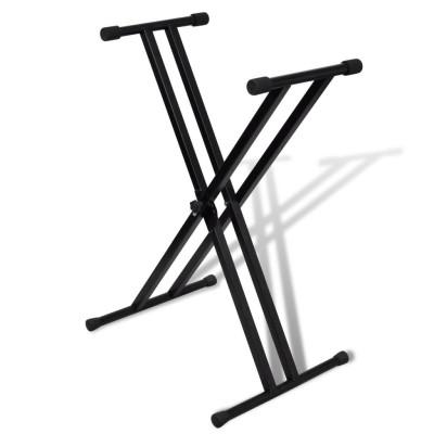 Support de clavier réglable double barre en X