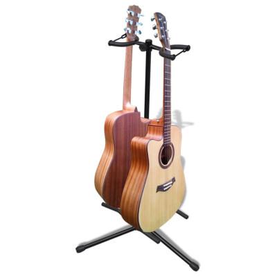 Stand de double guitare pliable