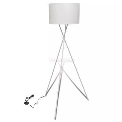 Lampe de sol à long trépied Blanc