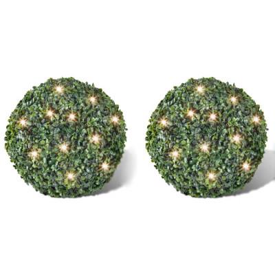 2 pièce de boule 35 cm avec guirlande lumineuse solaire 24 LED