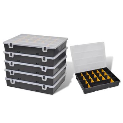 Set de 6 Malettes de Rangement avec Compartiments